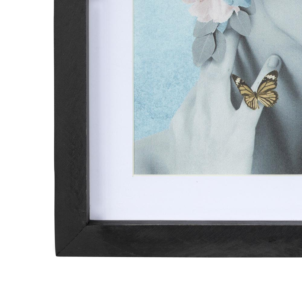 Butterflies and Floral Lady Framed Wall Art - 380866. Picture 1