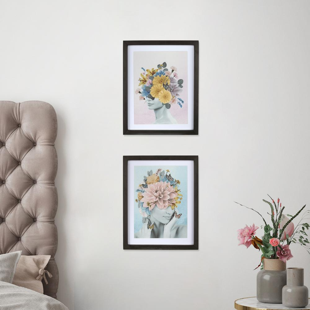 Butterflies and Floral Lady Framed Wall Art - 380866. Picture 4