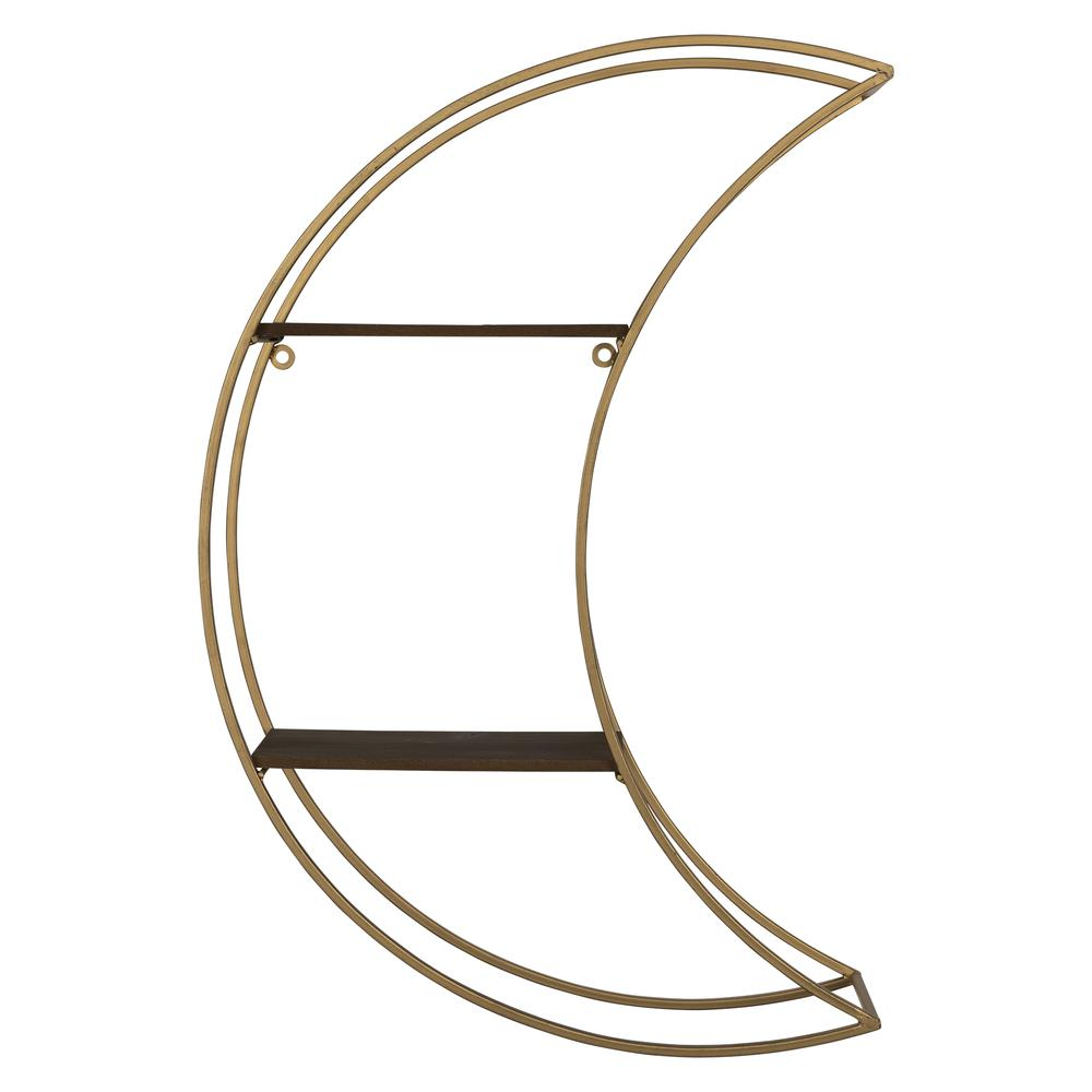 Gold Half Moon Floating Shelf - 380872. Picture 1