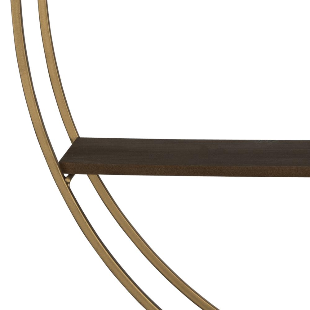 Gold Half Moon Floating Shelf - 380872. Picture 3