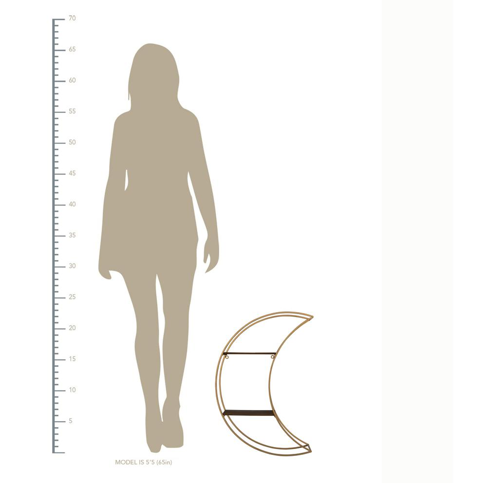 Gold Half Moon Floating Shelf - 380872. Picture 4