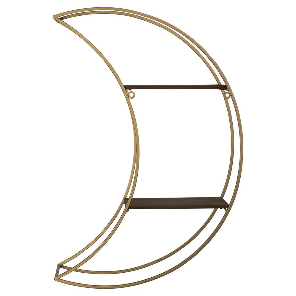 Gold Half Moon Floating Shelf - 380872. Picture 5