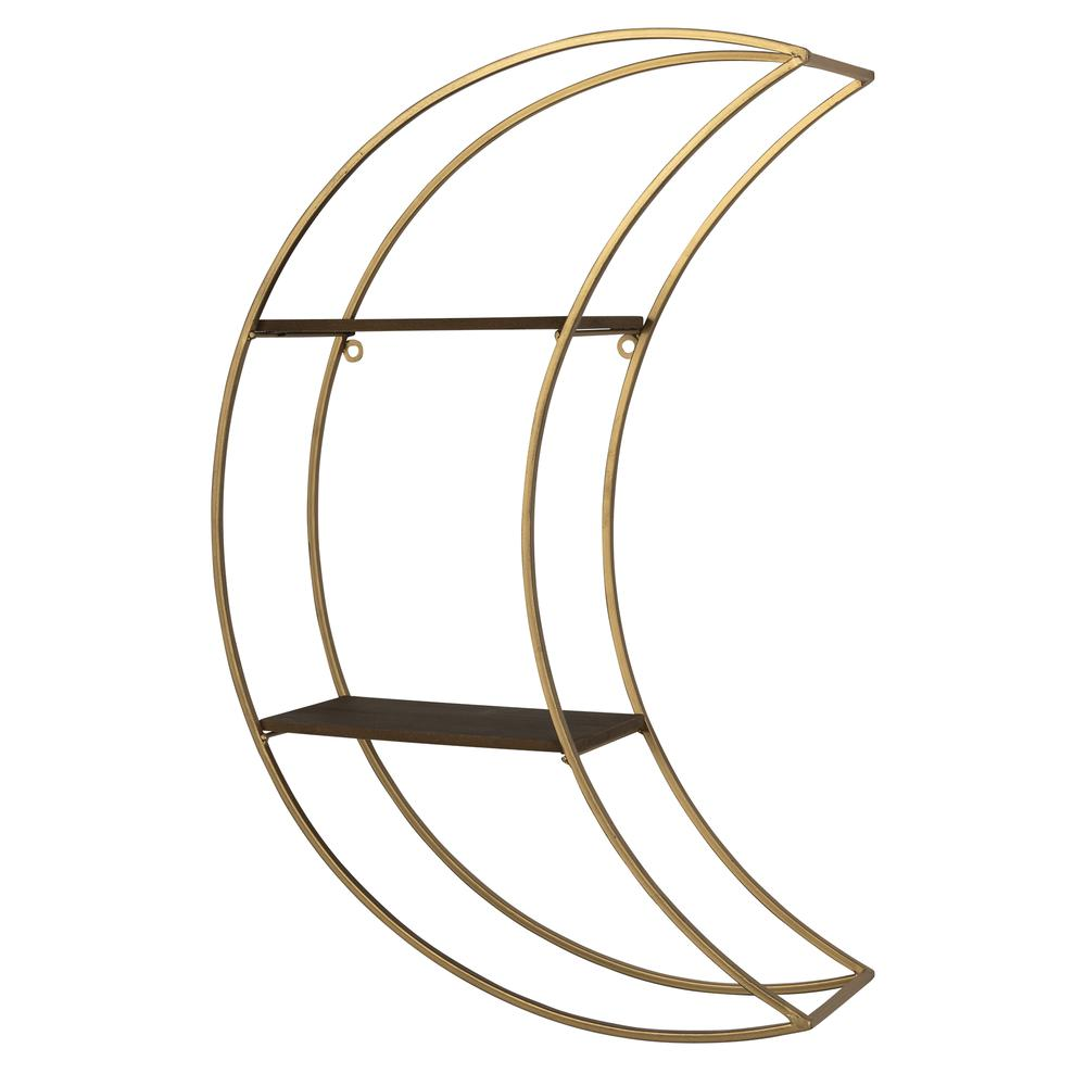 Gold Half Moon Floating Shelf - 380872. Picture 7