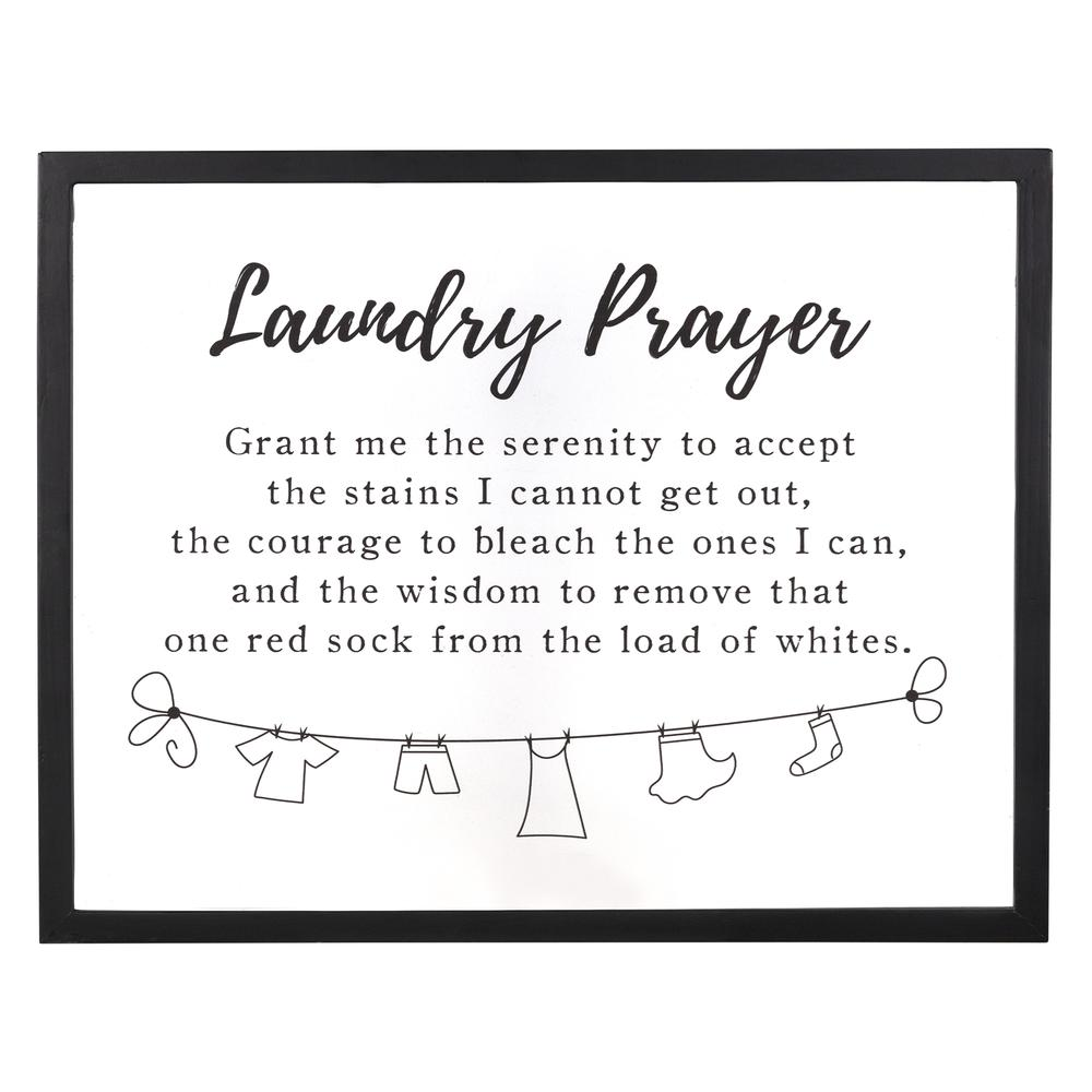 Black And White Laundry Prayer Wall Art - 380873. Picture 1