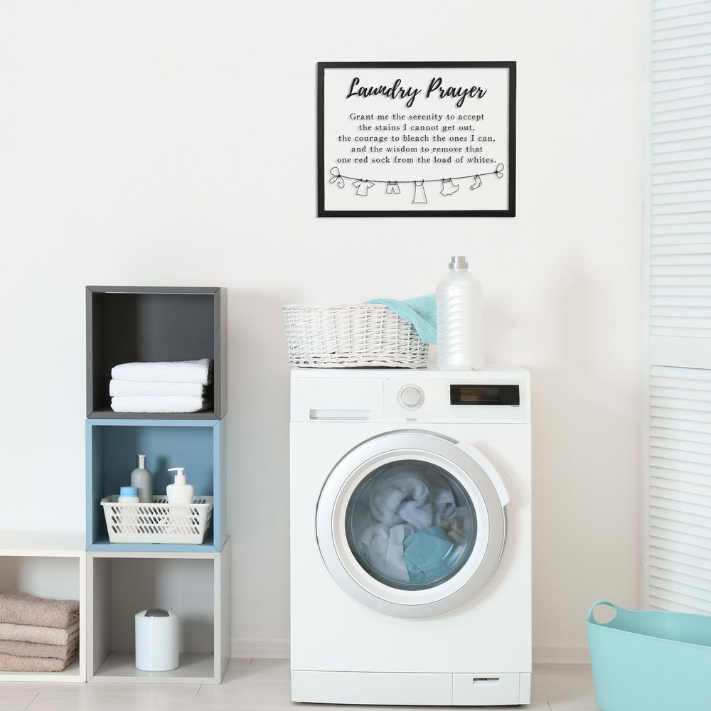 Black And White Laundry Prayer Wall Art - 380873. Picture 6