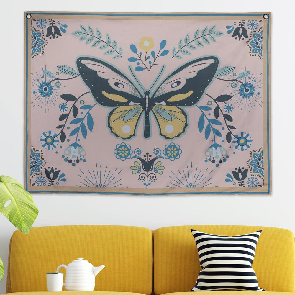 Multi Color Butterfly Tapestry Wall Decor - 380880. Picture 4