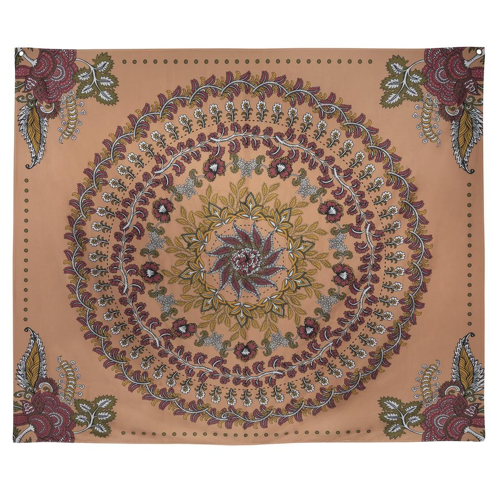 Center Medallion Coral Hanging Wall Tapestry - 380882. Picture 1