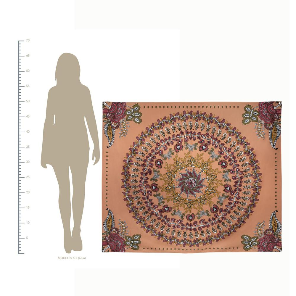 Center Medallion Coral Hanging Wall Tapestry - 380882. Picture 3