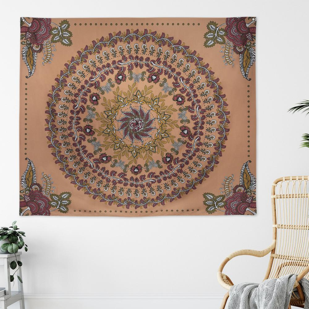 Center Medallion Coral Hanging Wall Tapestry - 380882. Picture 4