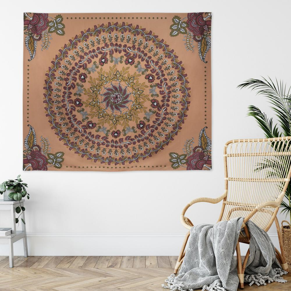 Center Medallion Coral Hanging Wall Tapestry - 380882. Picture 5