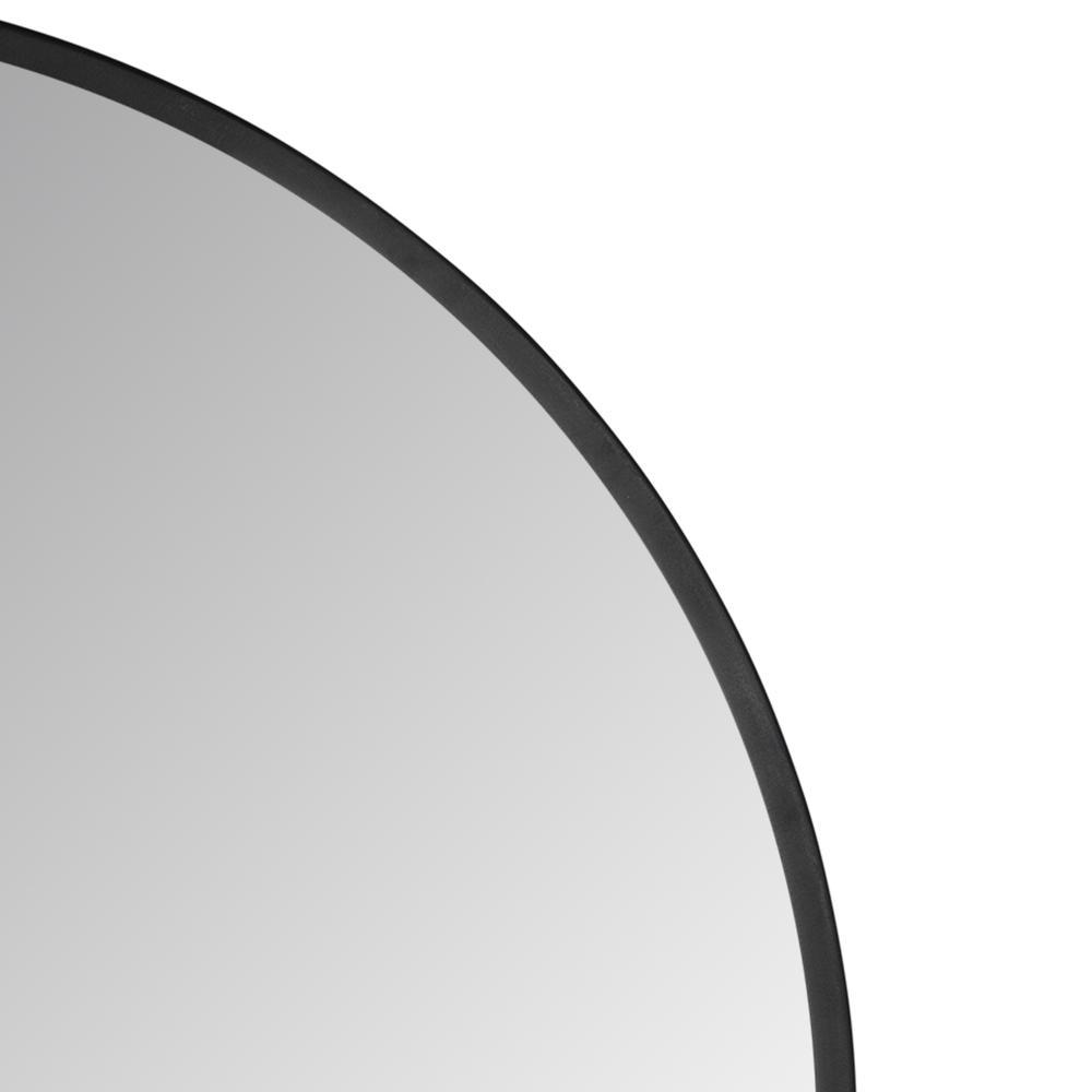 Minimalist Black Round Wall Mirror - 380884. Picture 3