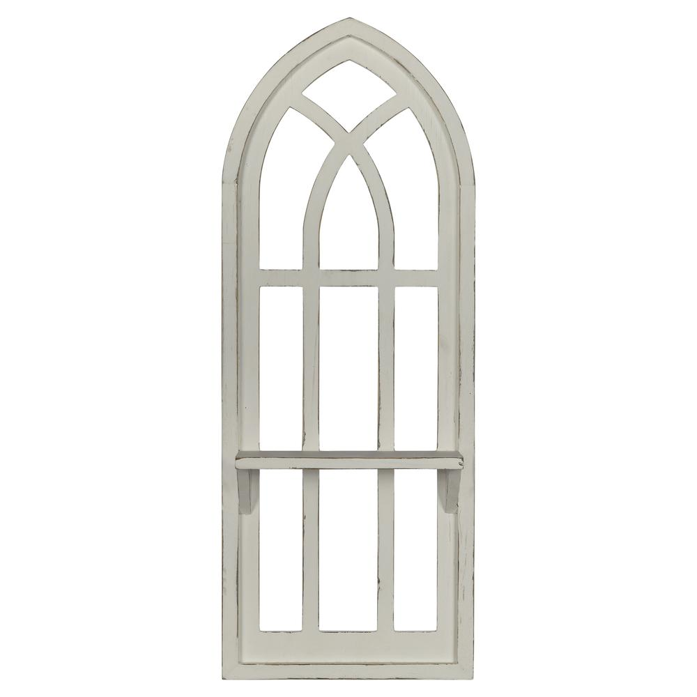 White Window Arch Wall Shelf - 380886. Picture 1