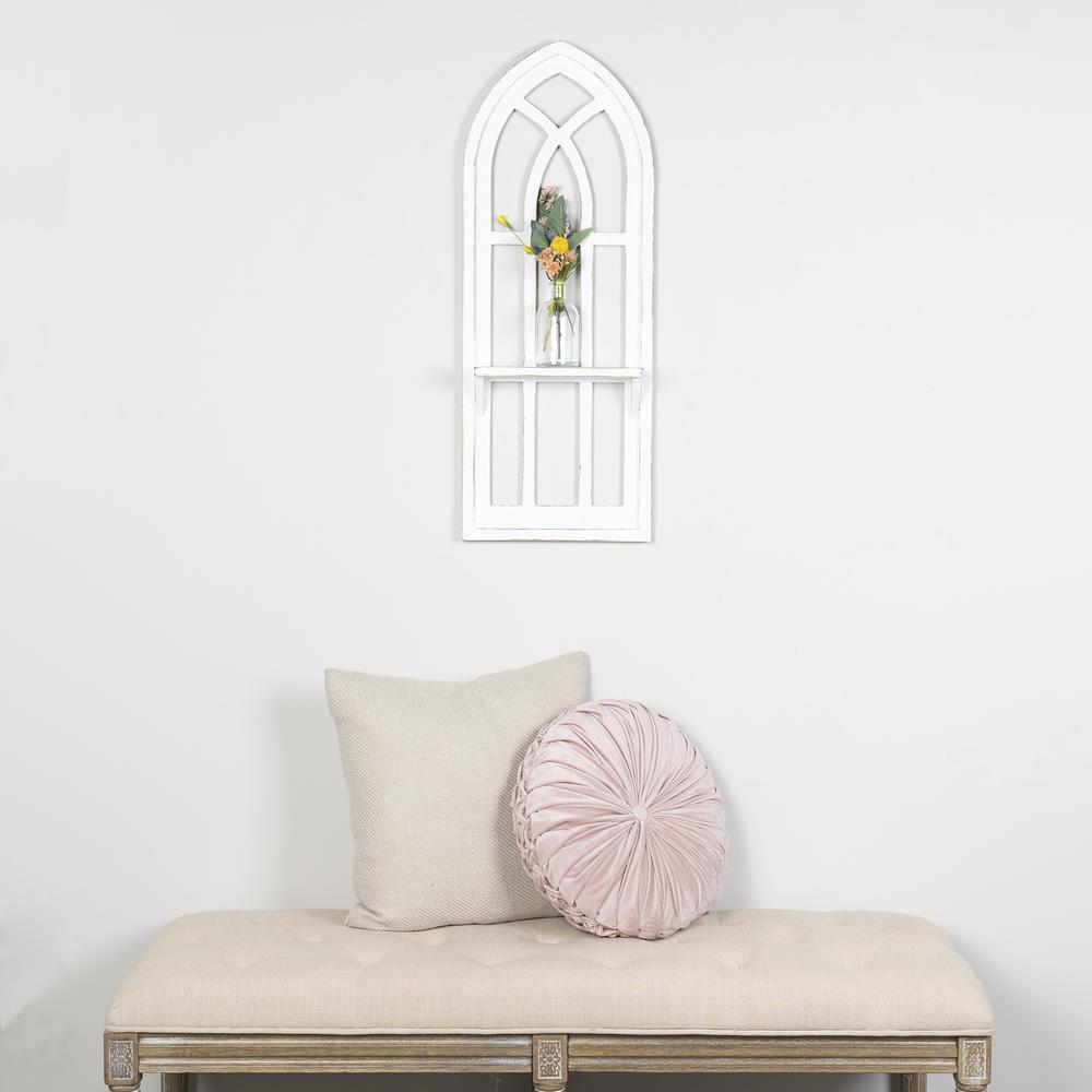 White Window Arch Wall Shelf - 380886. Picture 6