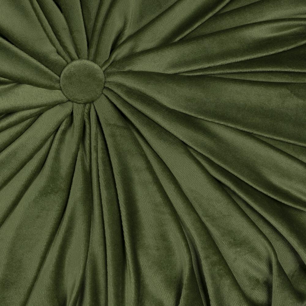 Green Round Tufted Velvet Pillow - 380888. Picture 1