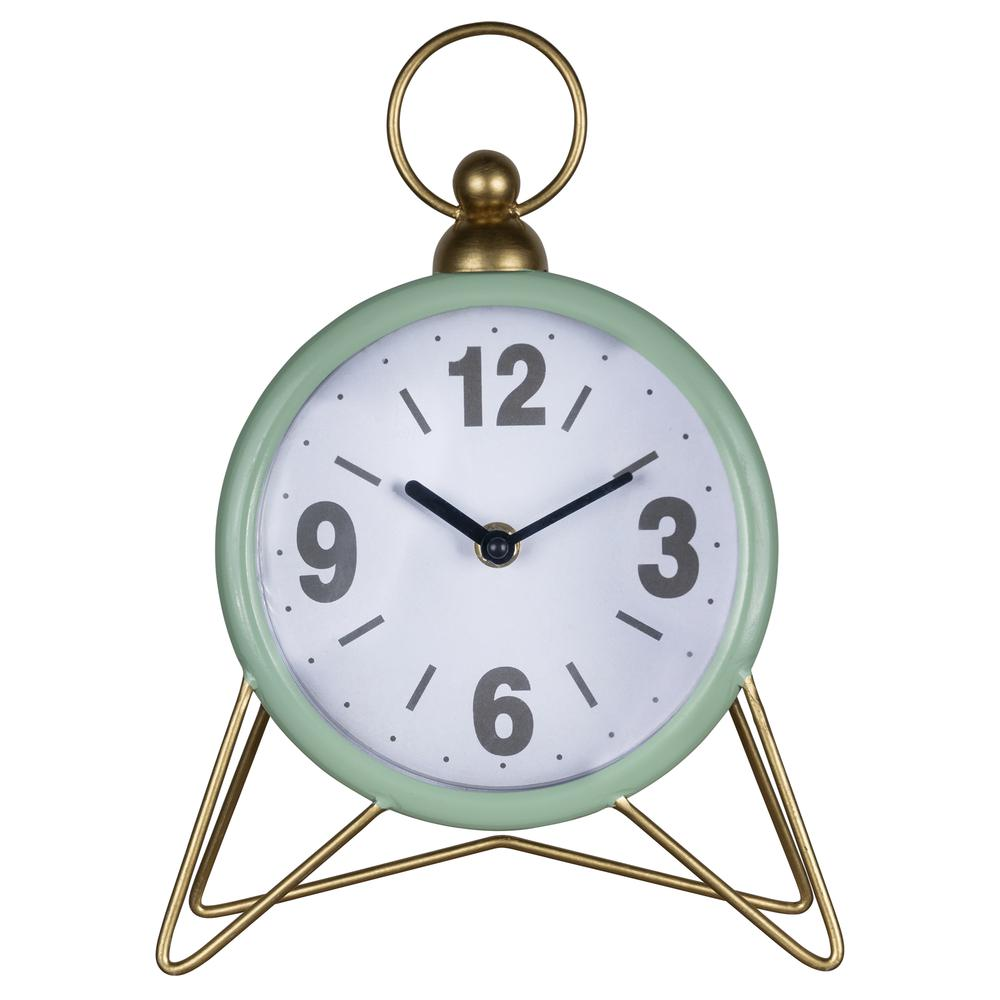 Green Golden Triangle Desk Clock - 380894. Picture 1