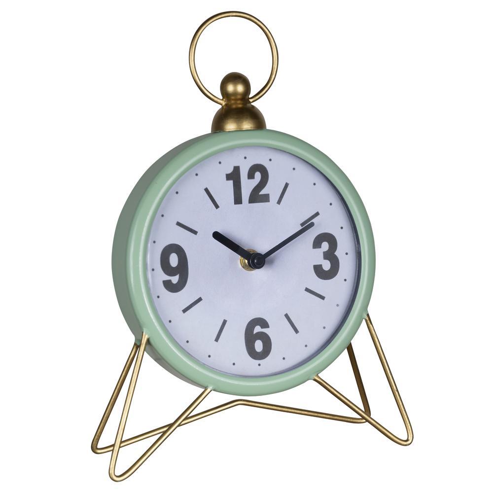 Green Golden Triangle Desk Clock - 380894. Picture 5