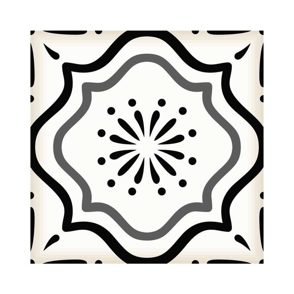 """4"""" x 4"""" Black And White Mosaic Peel and Stick Removable Tiles - 382864. Picture 5"""