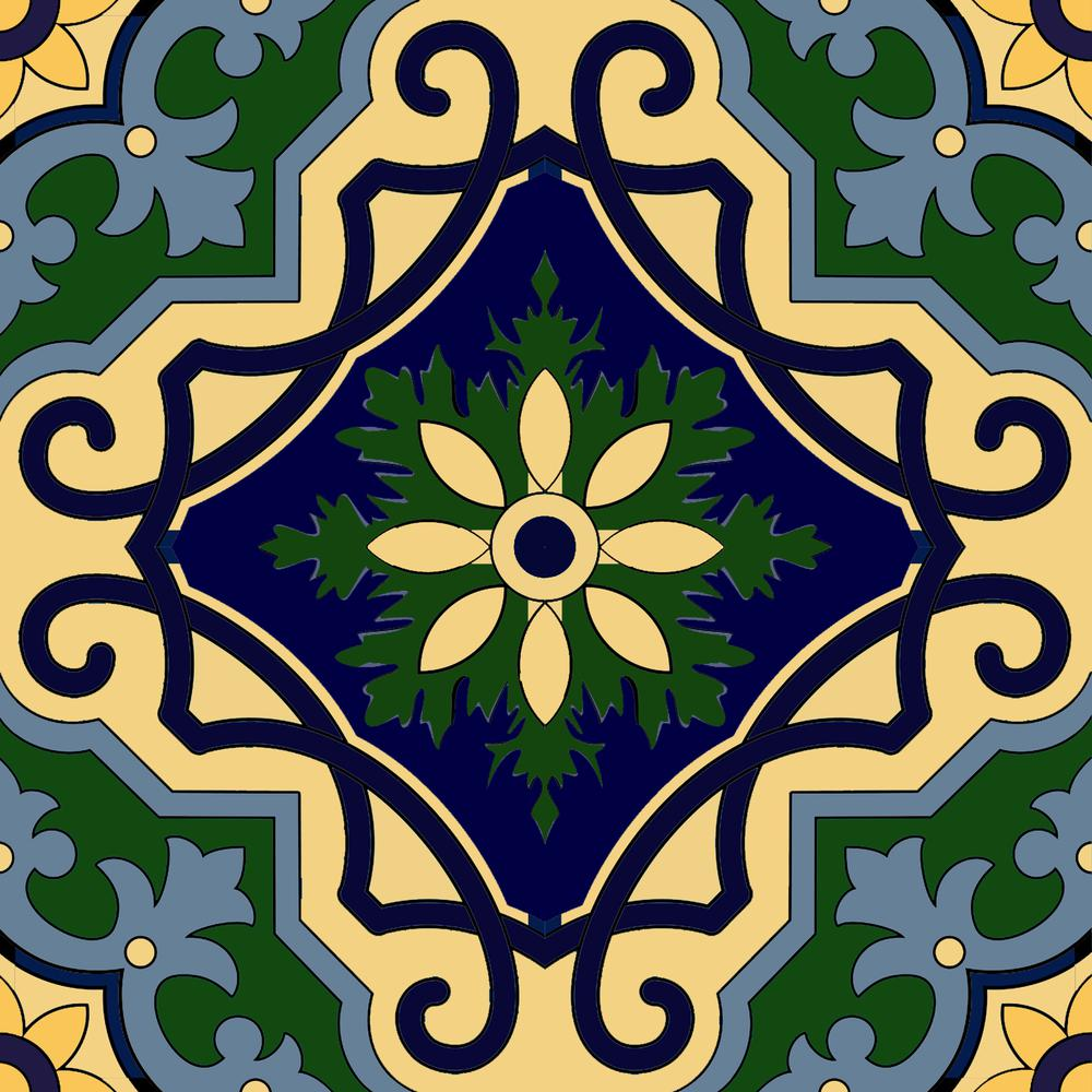 """4"""" x 4"""" Mediterranean Brights Mosaic Peel and Stick Removable Tiles - 382874. Picture 6"""