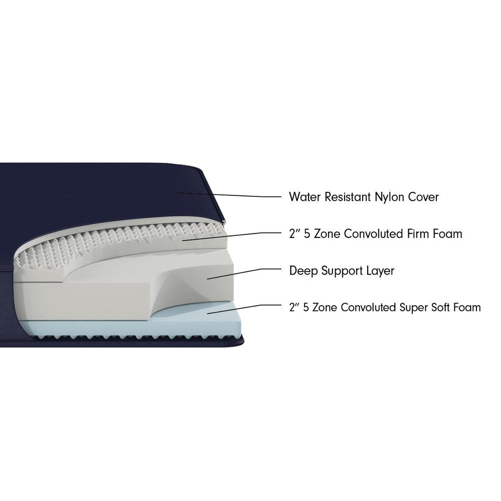 "Cherry 8"" Dual Comfort Nylon Twin XL Waterproof Mattress - 382899. Picture 2"