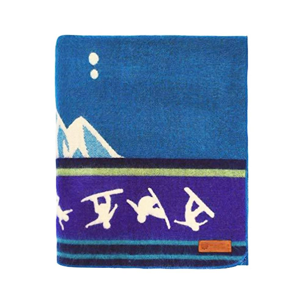 Queen Size Blue Ultimate Snowboarder Handmade Woven Blanket - 383071. Picture 3