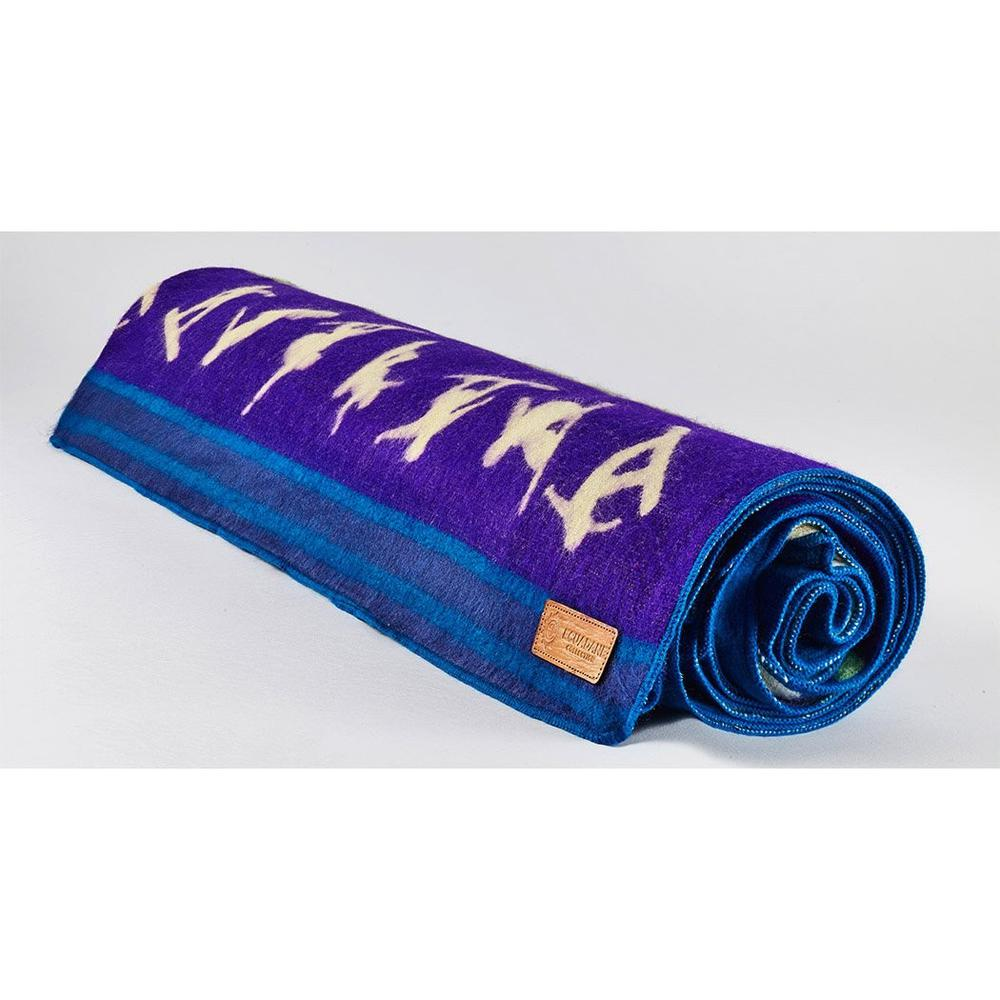 Queen Size Blue Ultimate Snowboarder Handmade Woven Blanket - 383071. Picture 5
