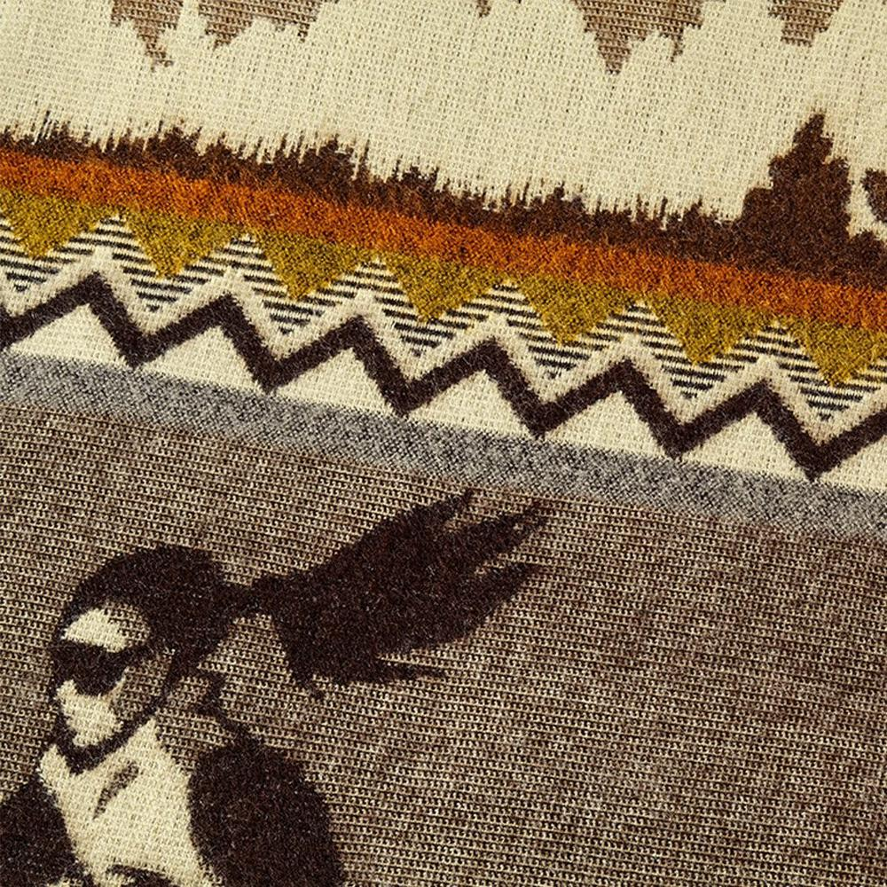 Queen Size Ultra Soft Brown Ski Mountain Handmade Woven Blanket - 383073. Picture 5