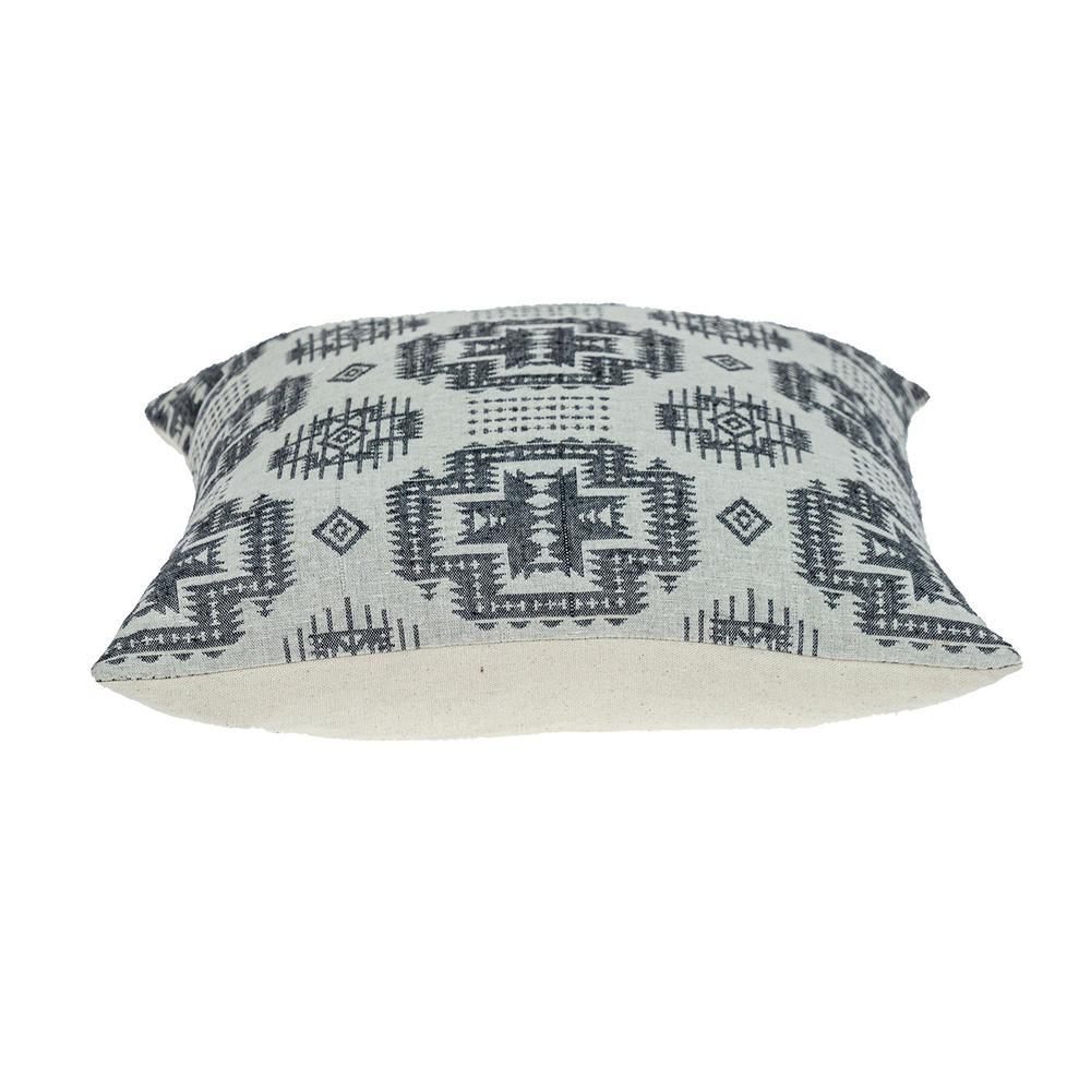 Gray Aztec Design Throw Pillow - 383091. Picture 4