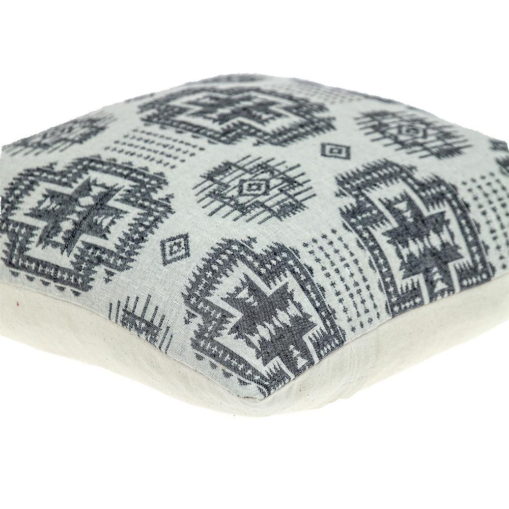 Gray Aztec Design Throw Pillow - 383091. Picture 5