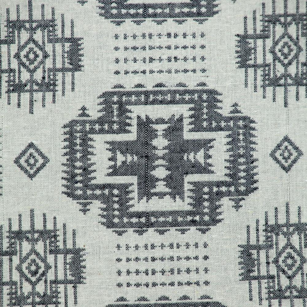 Gray Aztec Design Throw Pillow - 383091. Picture 6
