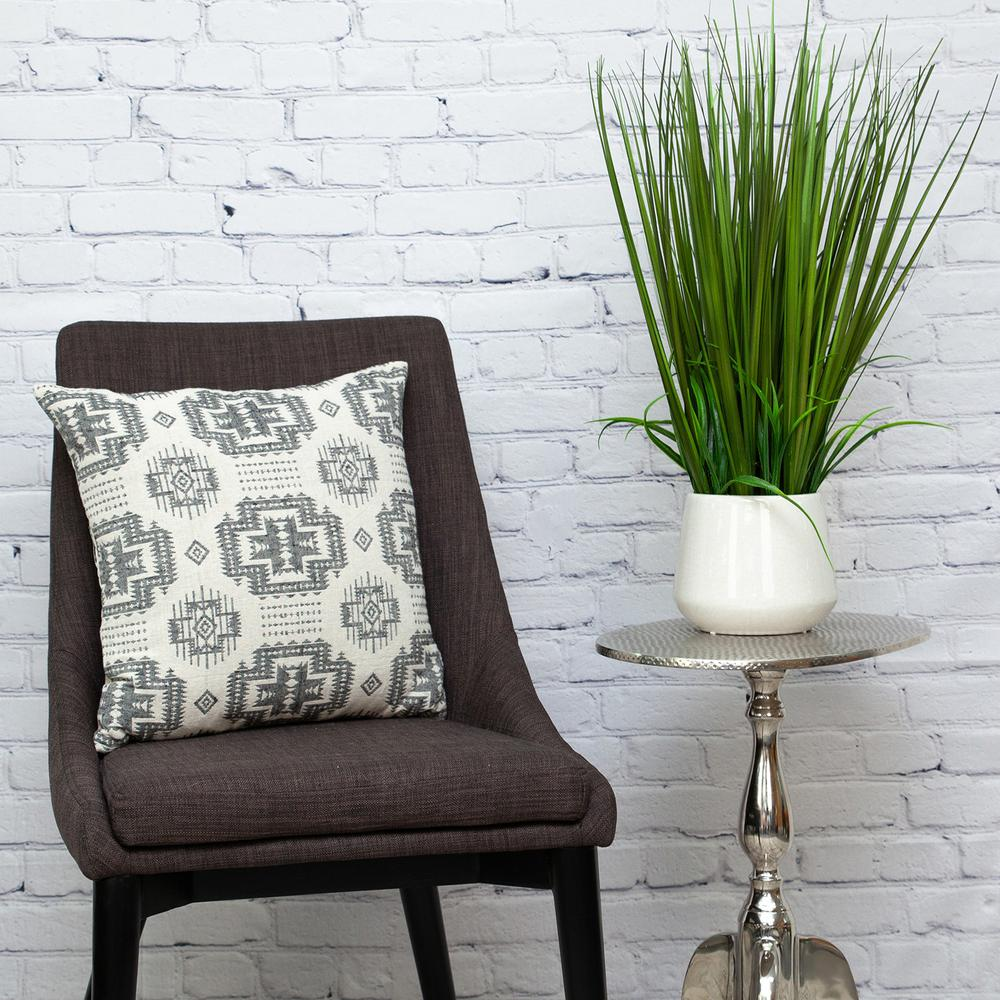 Gray Aztec Design Throw Pillow - 383091. Picture 7