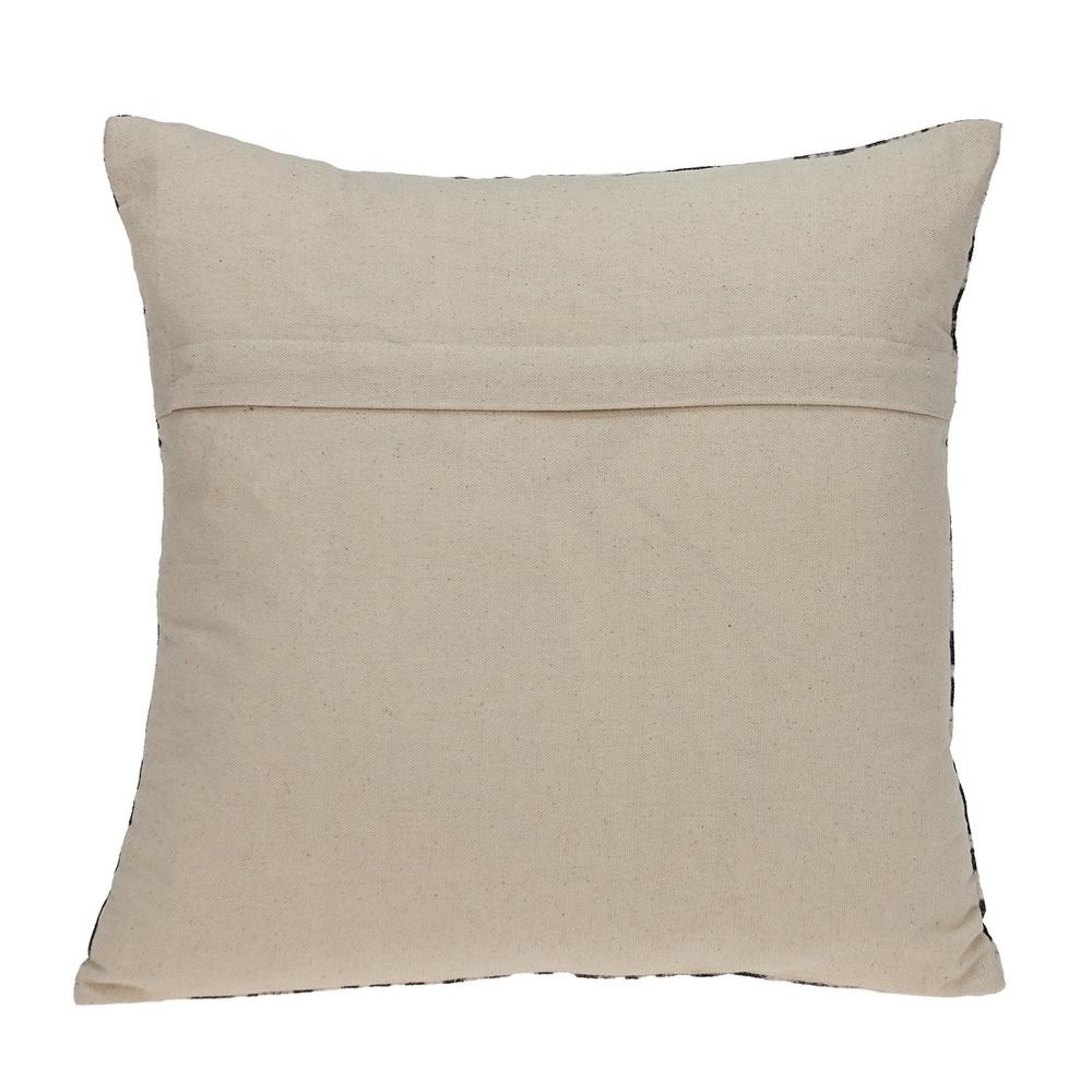 Black and White Abstract Velvet Throw Pillow - 383092. Picture 3