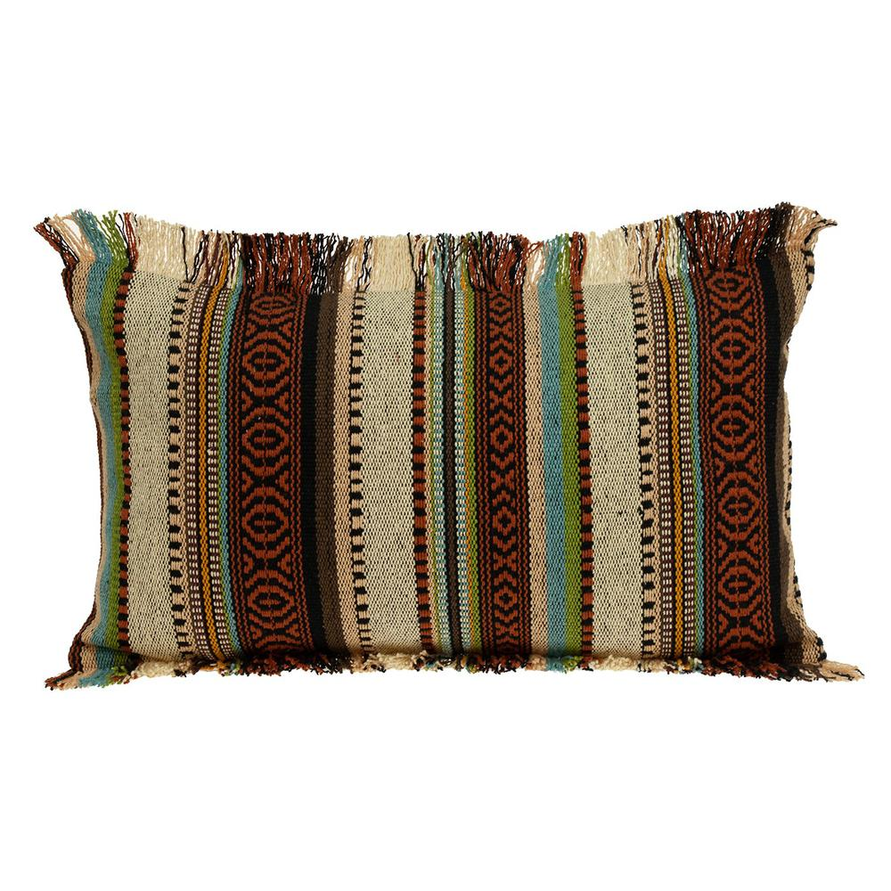 Bohemian Fringe Throw Pillow - 383093. Picture 1