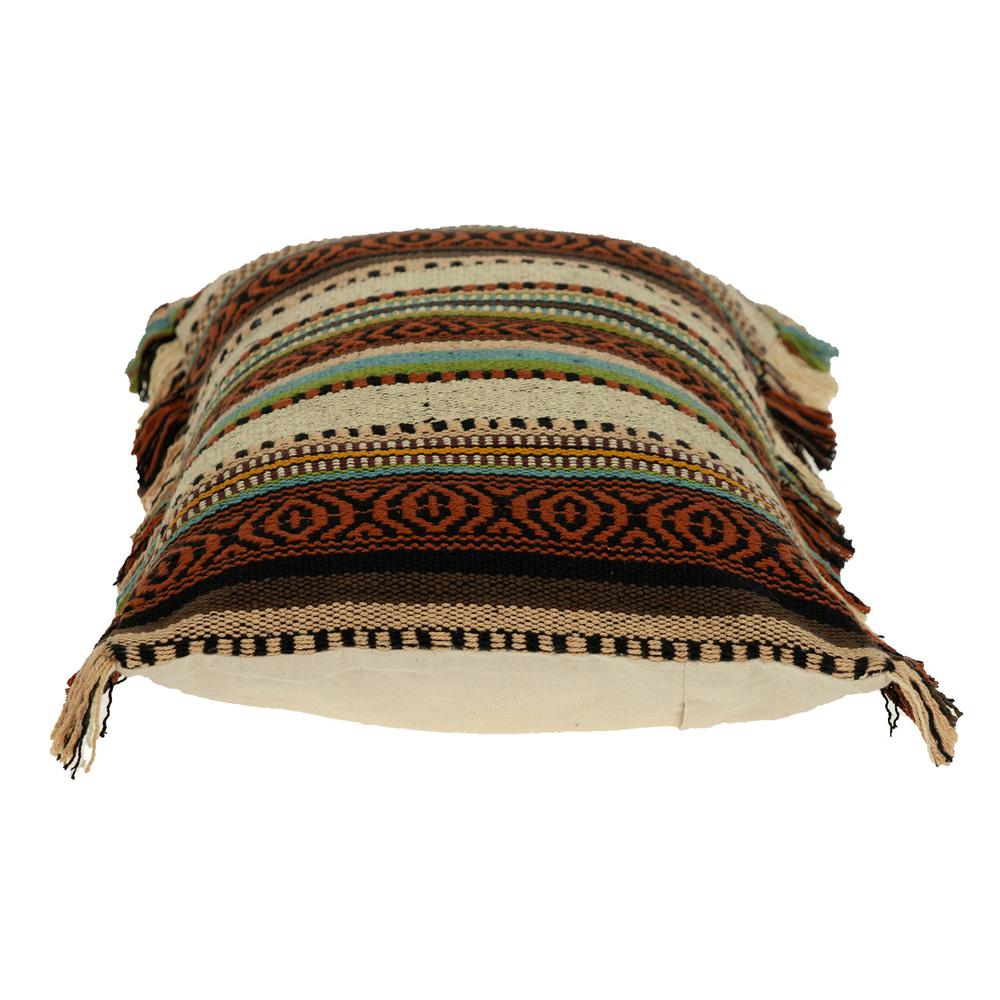 Bohemian Fringe Throw Pillow - 383093. Picture 4