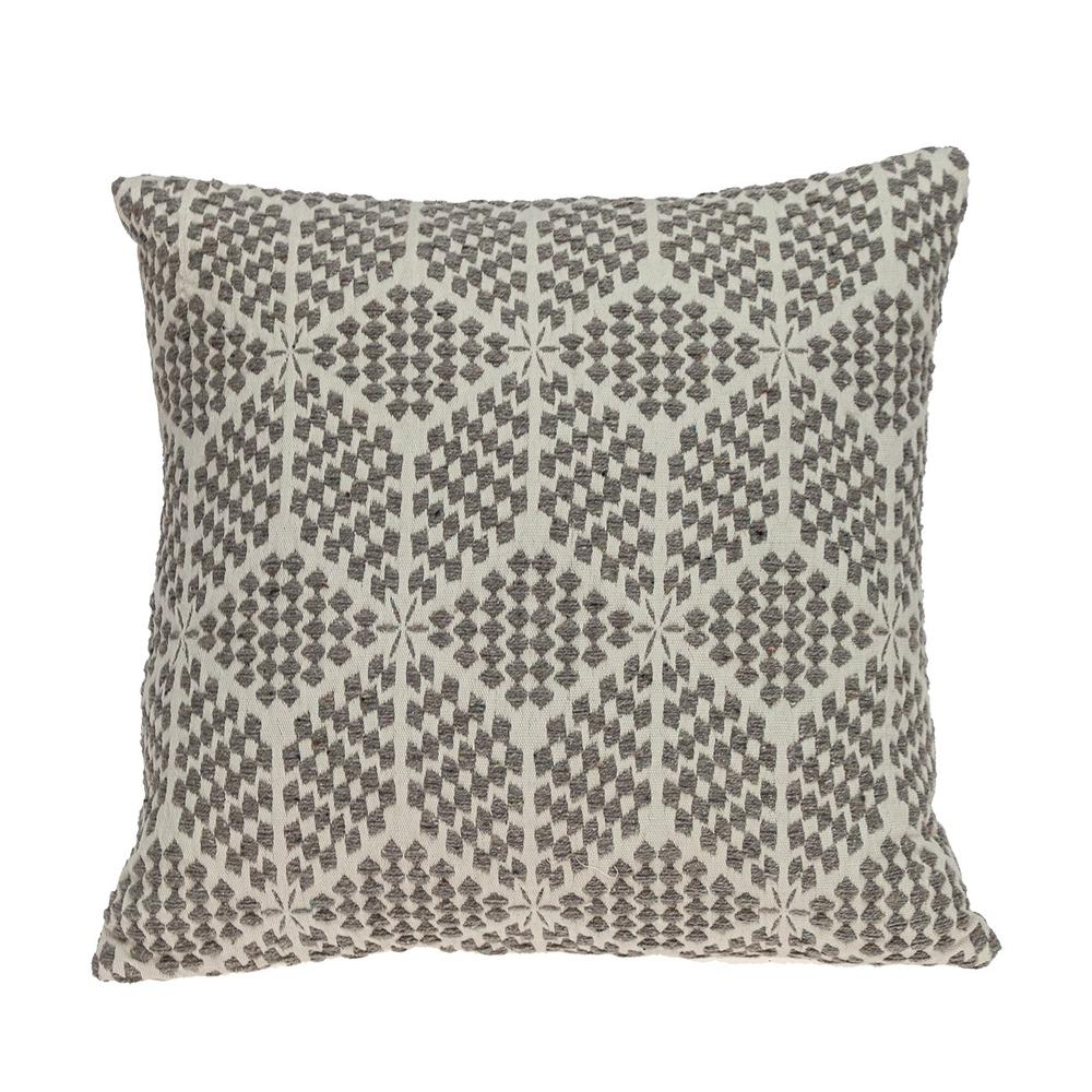 Beige Geometric Throw Pillow - 383094. Picture 1