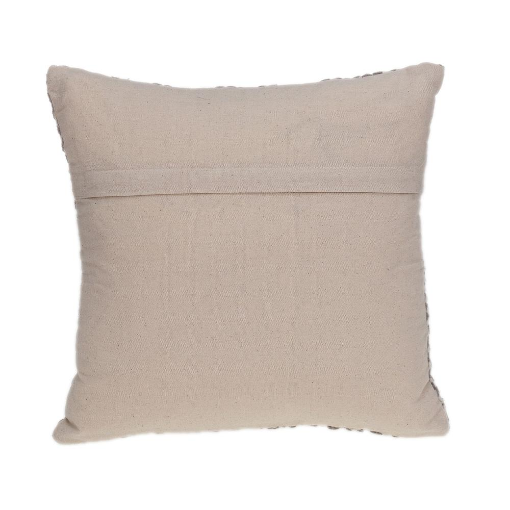 Beige Geometric Throw Pillow - 383094. Picture 3