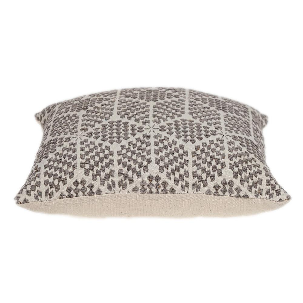 Beige Geometric Throw Pillow - 383094. Picture 4