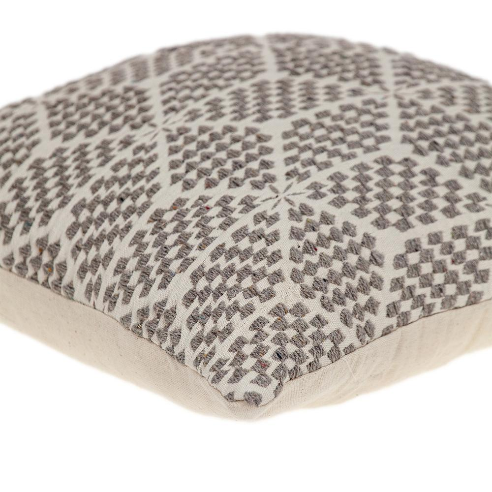 Beige Geometric Throw Pillow - 383094. Picture 5