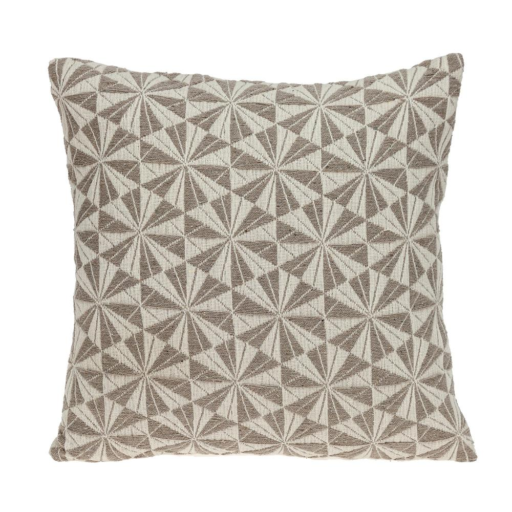 Pale Brown Pinwheels Throw Pillow - 383097. Picture 1