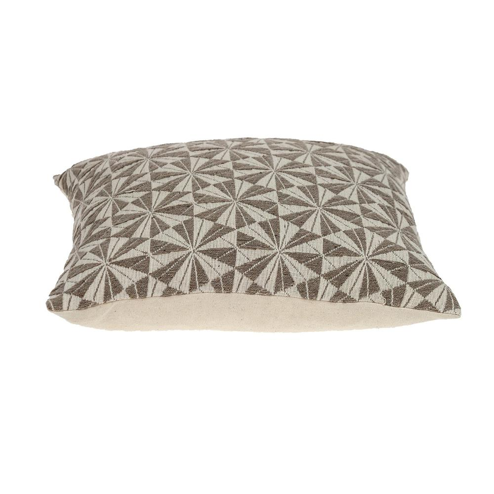 Pale Brown Pinwheels Throw Pillow - 383097. Picture 4