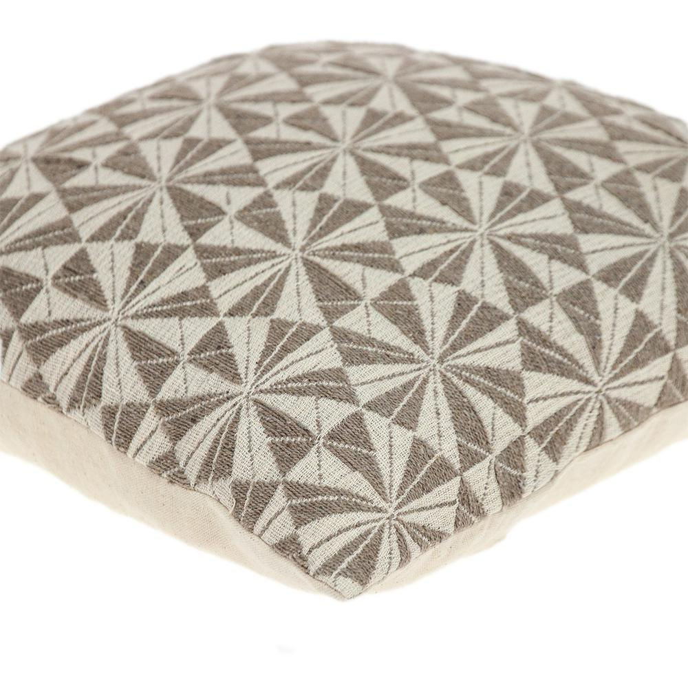Pale Brown Pinwheels Throw Pillow - 383097. Picture 5