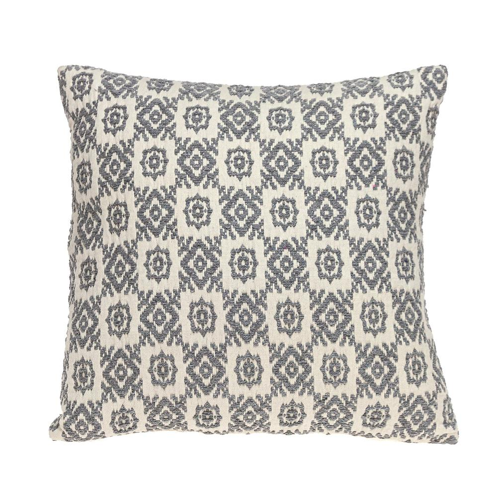 Neutral Grey Mosaic Throw Pillow - 383098. Picture 1
