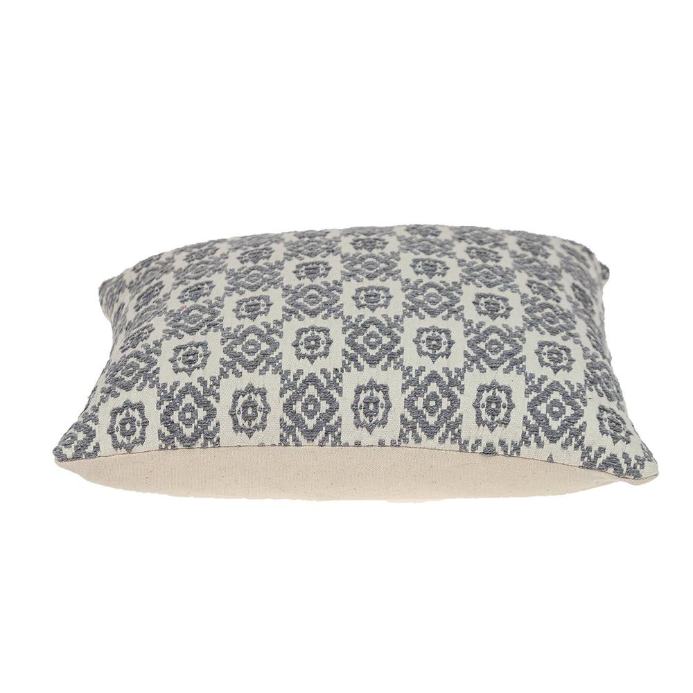Neutral Grey Mosaic Throw Pillow - 383098. Picture 4