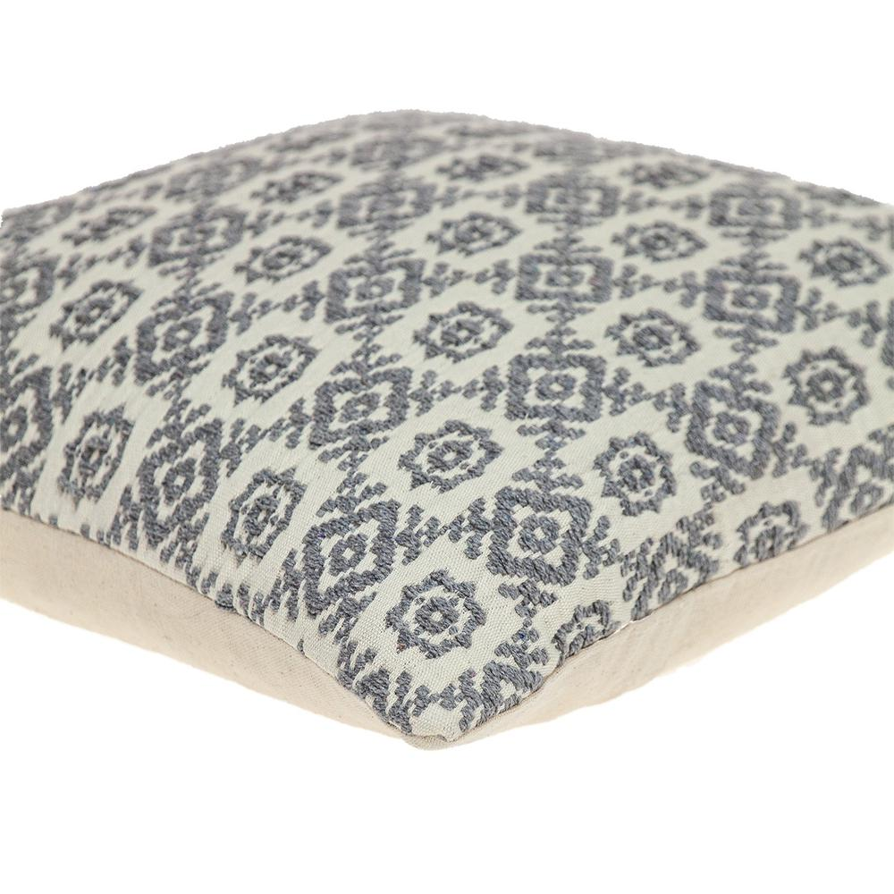 Neutral Grey Mosaic Throw Pillow - 383098. Picture 5