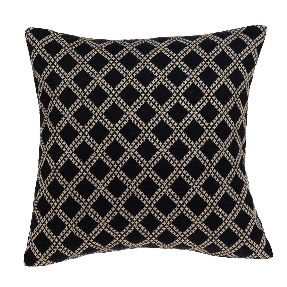 Charcoal Diamond Throw Pillow - 383099. Picture 1