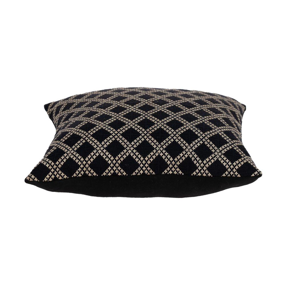 Charcoal Diamond Throw Pillow - 383099. Picture 4