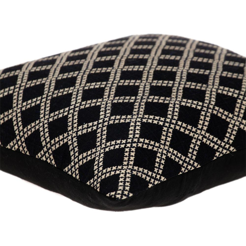 Charcoal Diamond Throw Pillow - 383099. Picture 5