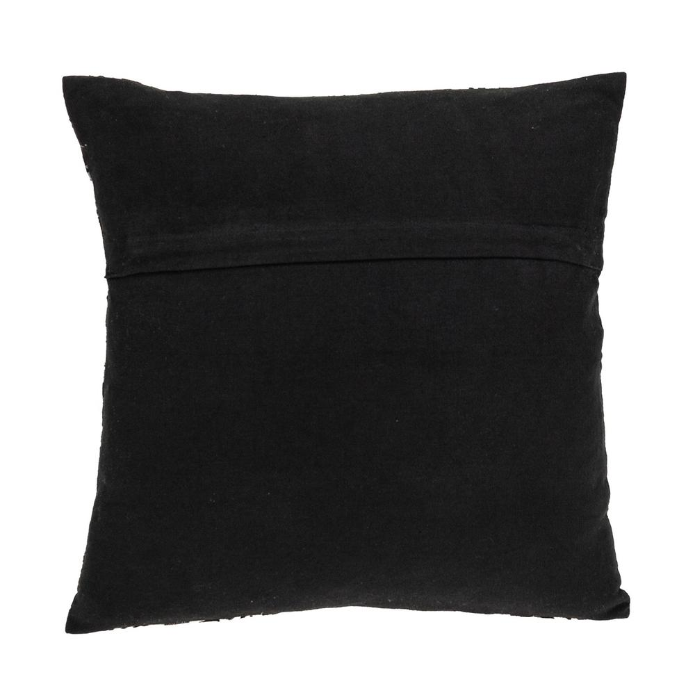 Jet Black and White Geo Throw Pillow - 383100. Picture 3