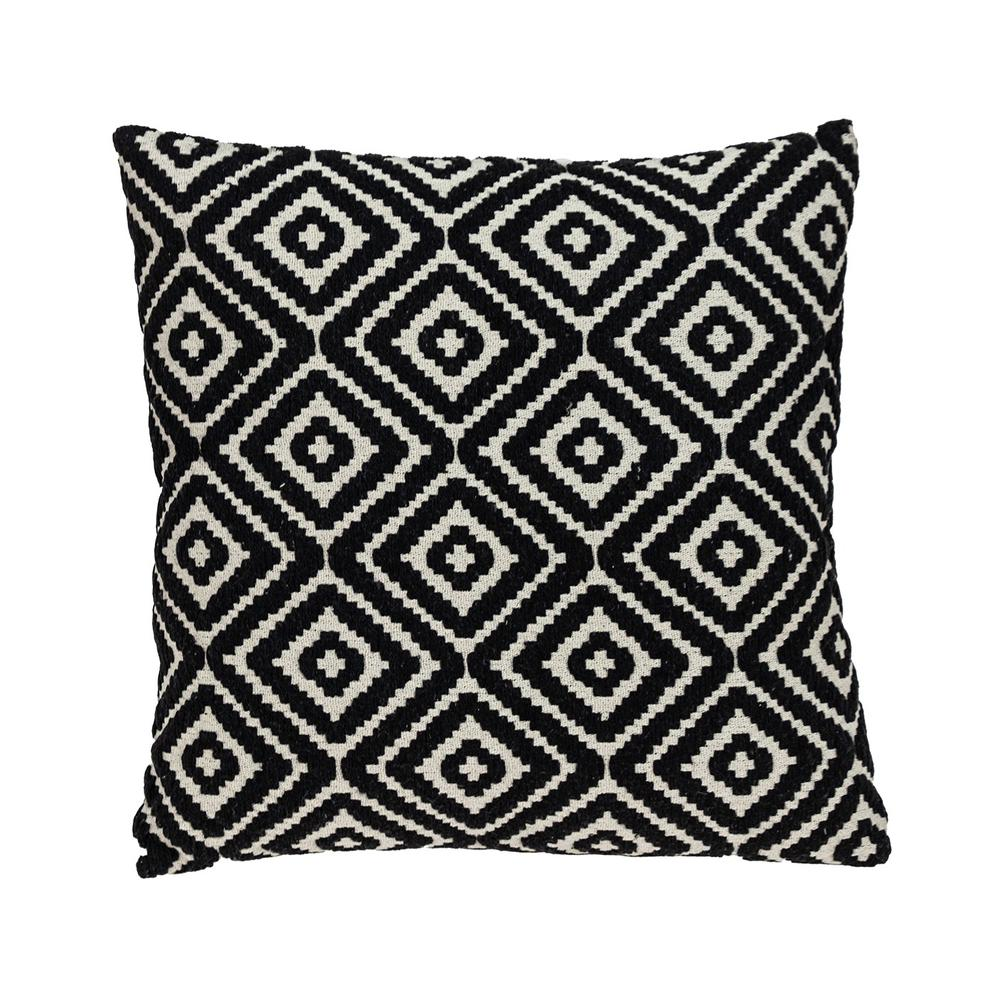 Ebony and Ivory Diamonds Throw Pillow - 383101. Picture 1