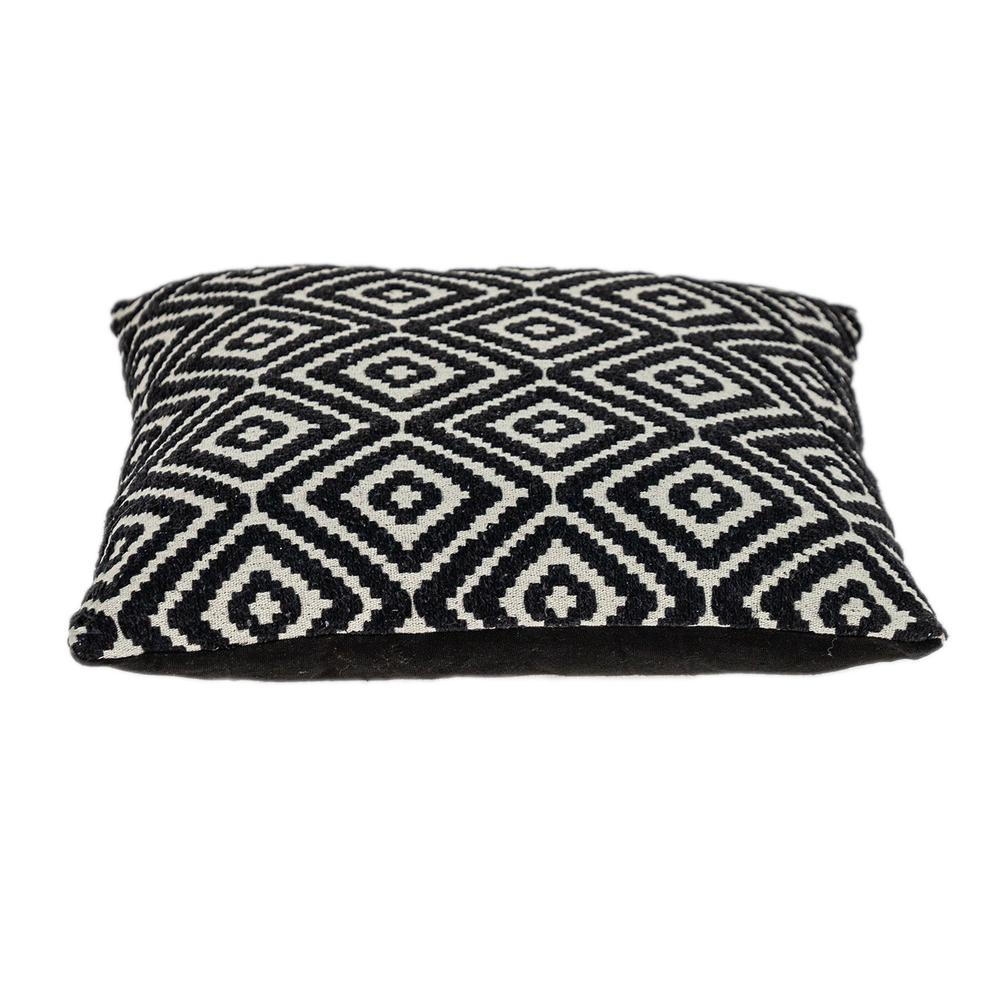 Ebony and Ivory Diamonds Throw Pillow - 383101. Picture 4