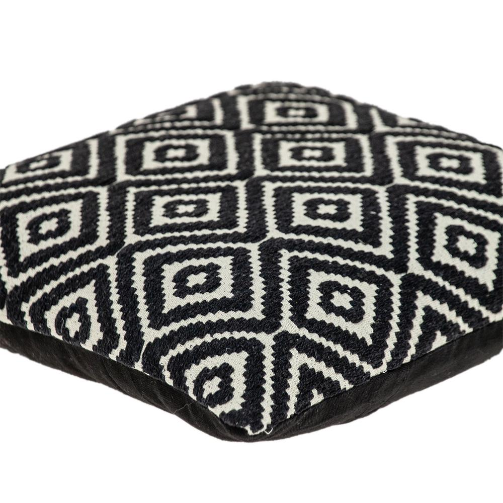 Ebony and Ivory Diamonds Throw Pillow - 383101. Picture 5